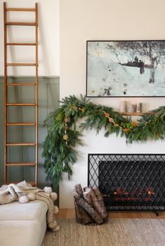 Barnhouse | Asymmetrical Christmas Mantel