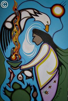 Friends United by Rolf Bouman - Home of Friends United - Native Art - Canada Native American Artwork, Native American Artists, American Indian Art, Native American Symbols, Inuit Kunst, Inuit Art, Native Canadian, Canadian Art, Kunst Der Aborigines