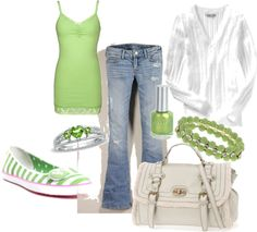 """""""Green"""" by aychdeegee on Polyvore"""