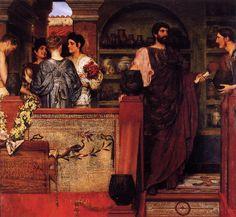 Sir Lawrence Alma-Tadema (l836 - 1912)   Hadrian Visiting a Romano-British Pottery