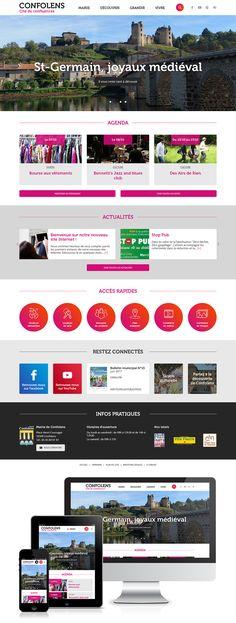 Création du site web de la mairie de Confolens (16) : #Web #Webdesign #Responsive #Mairie #Ville #Public : www.mairie-confolens.fr by @creasit