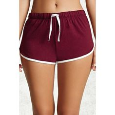 Forever21 Contrast Trim PJ Shorts ($11) ❤ liked on Polyvore featuring forever 21