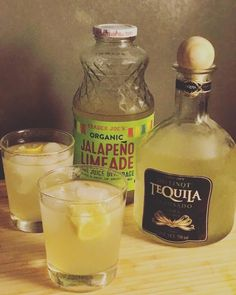 Let's face it: making a batch of jalapeño margaritas takes quite a lot of preparation. While the spicy cocktail is a summertime staple of many bars, it Summer Drinks, Cocktail Drinks, Fun Drinks, Cocktail Recipes, Alcoholic Drinks, Cocktails, Beverages, Limeade Margarita, Jalapeno Margarita