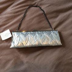 Cute Silver Clutch New Bags