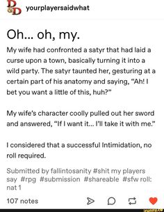 Dnd Funny, Stupid Funny Memes, Funny Posts, Funny Quotes, Hilarious, Dungeons And Dragons Memes, Dungeons And Dragons Homebrew, Writing Tips, Writing Prompts