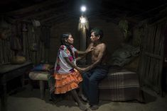 Faustina Flores Carranza and her husband Juan Astudillo Jesus sit in their solar-lit home in San Luis Acatlan, Guerrero, Mexico. Misty Night, The Game Is Over, Altered Images, Guardian Angels, Senior Photography, Photography Awards, Solar Lights, Photojournalism, Solar Energy