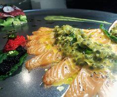 סאביצ'ה סלמון עם פסיפלורה... גאוני!  #instagram #elbarbas #vivalabarda #bardacoa #picanha #churrasco #carne #amigos #familia  #premium #Angus #delicia #parrilla #carnes #ancho #brahma #instafood #foodporn #foodgram #likeforlike #like4like #instamood #food #foodie  #tuna #tataki #China #chef #chefworld ן by 144amit