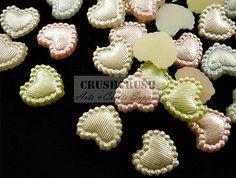 FREE SHIPPING--50pcs Pearl Heart Love Wedding Flatback Cabochon Decoration F1203   eBay