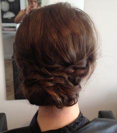 Bridesmaid hair... braid/texture not to side