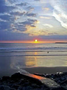 The best sunrises and sunsets are in Lahinch, County Clare, Ireland Ireland Beach, Ireland Travel, The Places Youll Go, Great Places, Places To Visit, Beautiful Sunset, Beautiful Places, County Clare, Emerald Isle