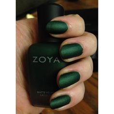 10 Cool Ways to Do Green Nail Polish, Courtesy of Our Twitter... ❤ liked on Polyvore featuring beauty products, nail care and nail polish