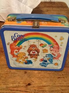 Care bears metal lunchbox I remember this one...lots of girls had it. I was jealous...
