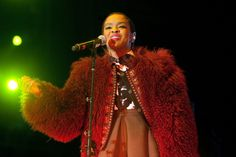 Guys, you better watch out. Lauryn Hill has that thing during a performance at the 2014 Voodoo Music + Arts Experience on Nov. 1 in New Orleans