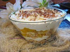 VioletoweKucharzenie: Brzoskwiniowy błyskawiczny deser Pudding, Food, Eten, Puddings, Meals, Diet