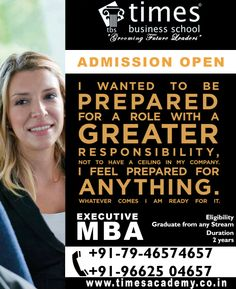 Hurry Up!! Admission open for Executive MBA 2015 at Times Business School Ahemdabad