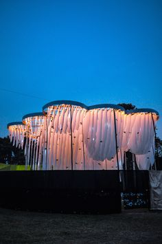 Abin Design Studio Constructs Pavilion of Canopies for Indian Cultural Festival,© Sayantan Chakraborty. Image Courtesy of Abin Design Studio Futuristic Architecture, Landscape Architecture, Landscape Design, Architecture Design, Pavilion Architecture, Chinese Architecture, Architecture Office, Acoustic Architecture, Landscape Lighting