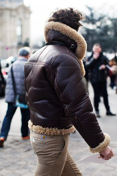 On the Street…..Outside the Grand Palais, Paris great lammy coat men fashion tumblr style winter