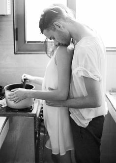 #When she is in the kitchen cooking & I come closer to her cuddle her from behind ❤️ #H
