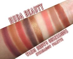 HUDA Beauty Warm Brown Obsessions Eyeshadow Palette #swatches #makeup #hudabeauty
