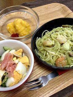 昼飲み〜♪ - 33件のもぐもぐ - ジェノベーゼ、生ハムサラダ、ナゲット☆ by vivi93