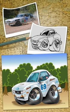 77' Celica ST Rally toon by nailgungfx