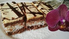 BOUNTY řezy se žloutkovou polevou   NejRecept.cz Nutella, Sweet Recipes, Tiramisu, Cleopatra, Food And Drink, Baking, Cake, Ethnic Recipes, Coffee