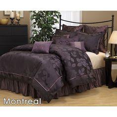 My purple bedding on pinterest purple bedding purple - Purple and black bedding sets ...