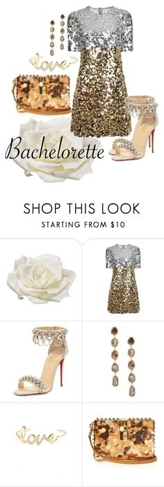 """The new Bachelorette"" by velvy ❤ liked on Polyvore featuring Allstate Floral, Dolce&Gabbana, Christian Louboutin and Saqqara"