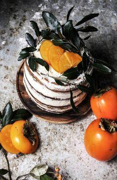 Persimmon and cinnamon cake