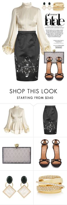 """""""A Little Bit of Givenchy! 4366"""" by boxthoughts ❤ liked on Polyvore featuring Andrew Gn, Givenchy, Charlotte Olympia, Marni and Shay"""