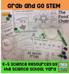 Frog STEM Grab and Go... The Science School Yard is excited to share Google Interactive Science with you! Kindergartners and first graders love participating in their science learning!