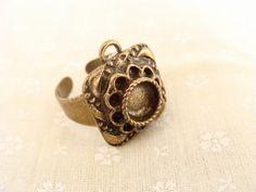 Adjustable Antique Brass Vintage Ring Avgad