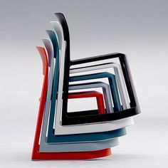 vitra rock chair - Stacked