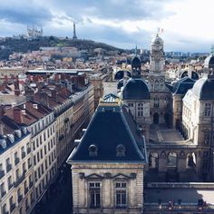 """"""" A breathtaking view of the Town Hall and Fourvière, taken from the Lyon Opera house. You can do a backstage visit of the Opera house on…"""