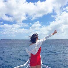 【imic.r_aaa】さんのInstagramをピンしています。 《. あ〜海外いきたい。 . 海が綺麗なところ セブ島、プーケット、ハワイ そんなとこでスポーツできたらもう最高☝️☝️☝️ . この写真は去年いったグアム〜 日本帰ったら鬼太ってた悪夢 たのしかったたのしかった . . #instagram #instagood  #海外旅行 #グアム #guam #海 # #》