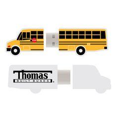 Thomas Built Buses - School Bus - 4GB USB DRIVE  www.GardianAngelLLC.com