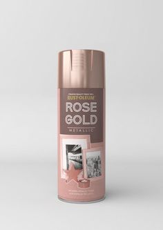 Rust-Oleum Rose Gold spray paint A premium quality, scratch resistant finish that allows you to create an attractive Rose Gold metallic finish on a wide range of substrates. Add a shiny metallic look to picture frames, candle holders, hobby and craft items and more.