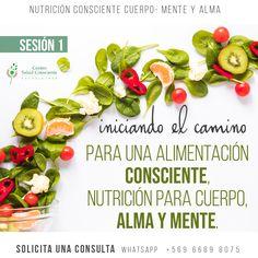"""🍎🥦🥑🥬Todas las sesiones de Nutrición Consciente en nuestro centro son una instancia de autoconocimiento, con foco en la alimentación Consciente.🍎🥦🥑🥬 . ❇️Sesión 1 """"INICIANDO EL CAMINO PARA UNA ALIMENTACIÓN CONSCIENTE, NUTRICIÓN PARA CUERPO, ALMA Y MENTE."""" ❇️Sesión 2 """"REORGANIZACIÓN DEL SISTEMA, ADENTRARSE EN EL PROCESO DE SANACIÓN: DE LA EMOCIÓN A LA ALIMENTACIÓN."""" ❇️Sesión 3 """"CONECTANDO CON MI ENERGÍA VITAL SOY PROTAGONISTA DE MI PROCESO"""" 📆Solicita una hr de lunes a viernes de 15 a…"""