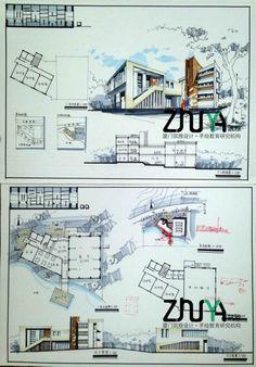 Concept Board Architecture, Landscape Architecture Portfolio, Architecture Presentation Board, Building Concept, Architecture Panel, Architecture Drawings, Architecture Details, Plan Sketch, Sketch Design