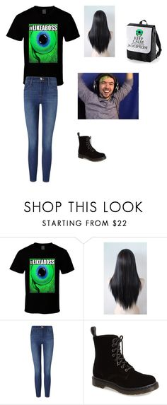 """""""JSE"""" by grace-lewis-1 ❤ liked on Polyvore featuring Frame and Dr. Martens"""