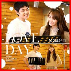 """Love Day"" by Yoseob and Eunji! ^.^  { #LoveDay #Yoseob #YangYoseob #HIGHLIGHT #Light #AroundUSEntertainment #Eunji #JungEunji #PinkPanda #PlanAEntertainment #Kpop }"