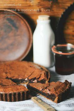 chocolate almond buckwheat tart.