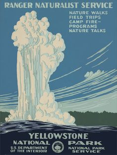 One of the best in the series, Yellowstone National Park art deco poster.