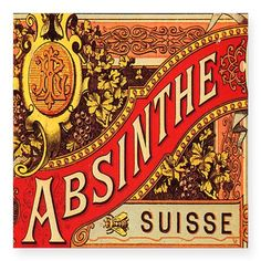 This is the original Absinthe Suisse label that I referenced for my absinthe poster. This image is in the public domain. Vintage Packaging, Vintage Labels, Vintage Ephemera, Vintage Ads, Vintage Signs, Absinthe Drinker, Absinthe Fairy, Renaissance, Face Template