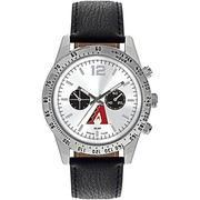#MLBShop.com - #MLBShop.com Arizona Diamondbacks Letterman Leather Watch - AdoreWe.com