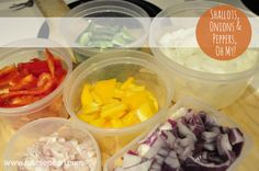 Cut up all of your ingredients on Sunday for your meal plan for the rest of the week.