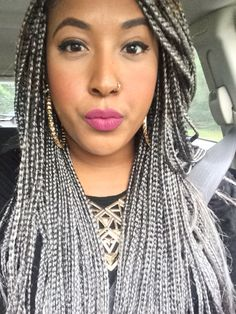 Image result for white box braids