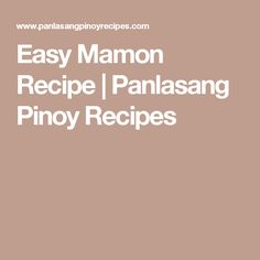 Easy Mamon Recipe | Panlasang Pinoy Recipes