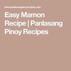 Easy Mamon Recipe | Panlasang Pinoy Recipes
