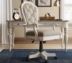 18 Modern Farmhouse Office Chairs for Your Workspace - Finding Sea Turtles Farmhouse Office Chairs, Home Office Chairs, Home Office Decor, Home Decor, Farmhouse Décor, Office Ideas, Vintage Office Decor, Desk Office, Desk Chairs